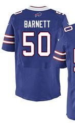 "$78.00--Nick Barnett White Elite Jersey - Nike Stitched Buffalo Bills #50 Jersey,Free Shipping! Buy it now:click on the picture, than click on ""visit aliexpress.com"" In the new page."