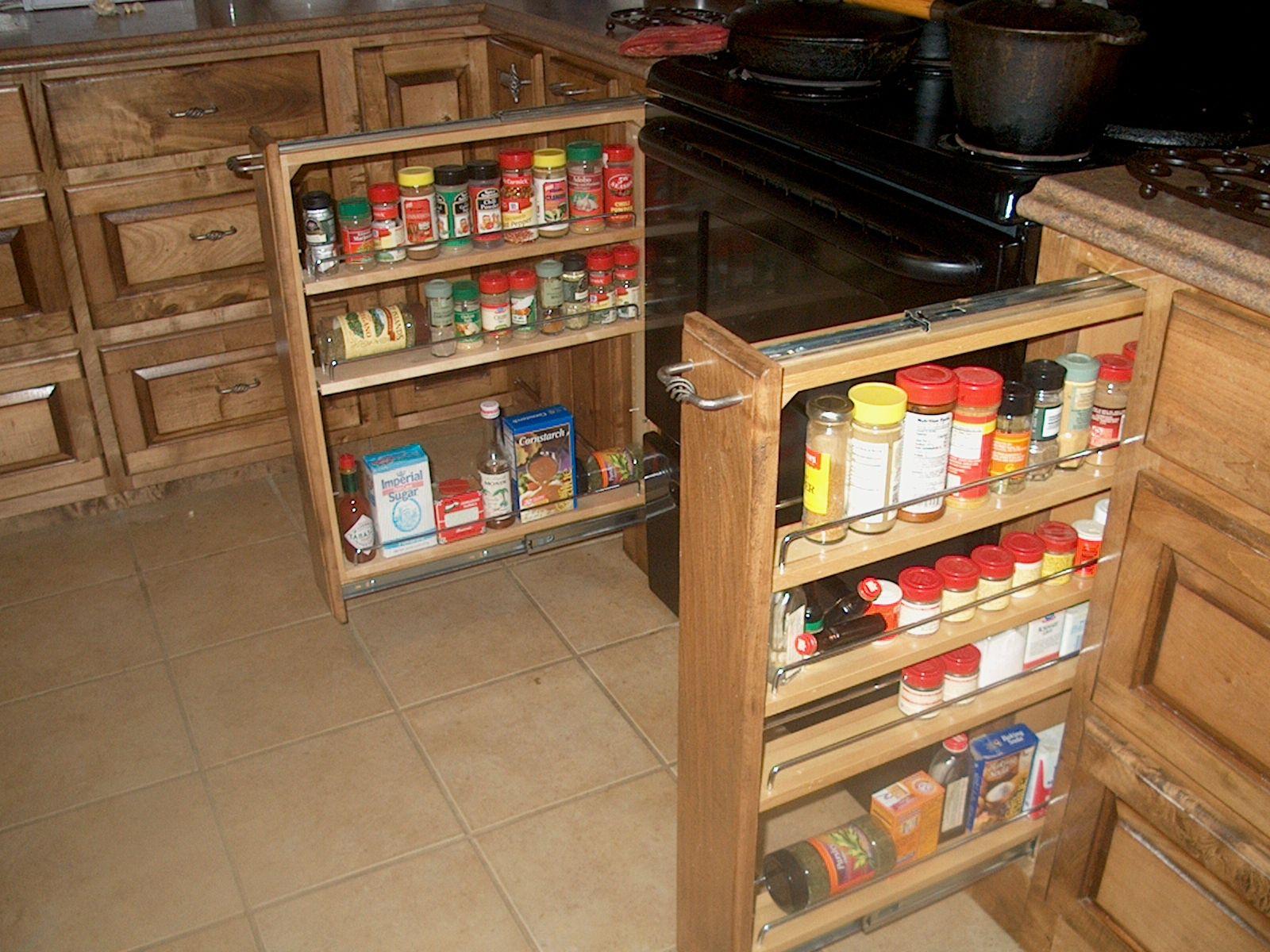Kitchen Kitchen Sink Cabinet Organizer Sliding Spice Rack