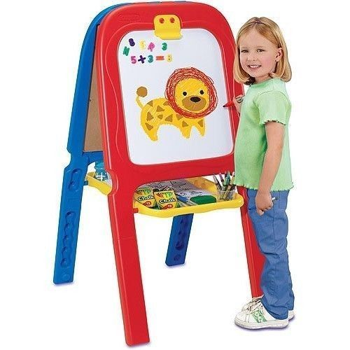 New Crayola 3-in-1 Double Easel w/ Magnetic Letters Artist Kids Christmas Gift