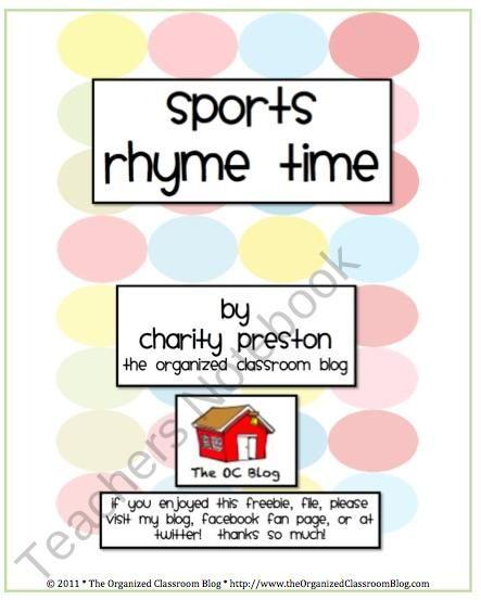 rhyming activity