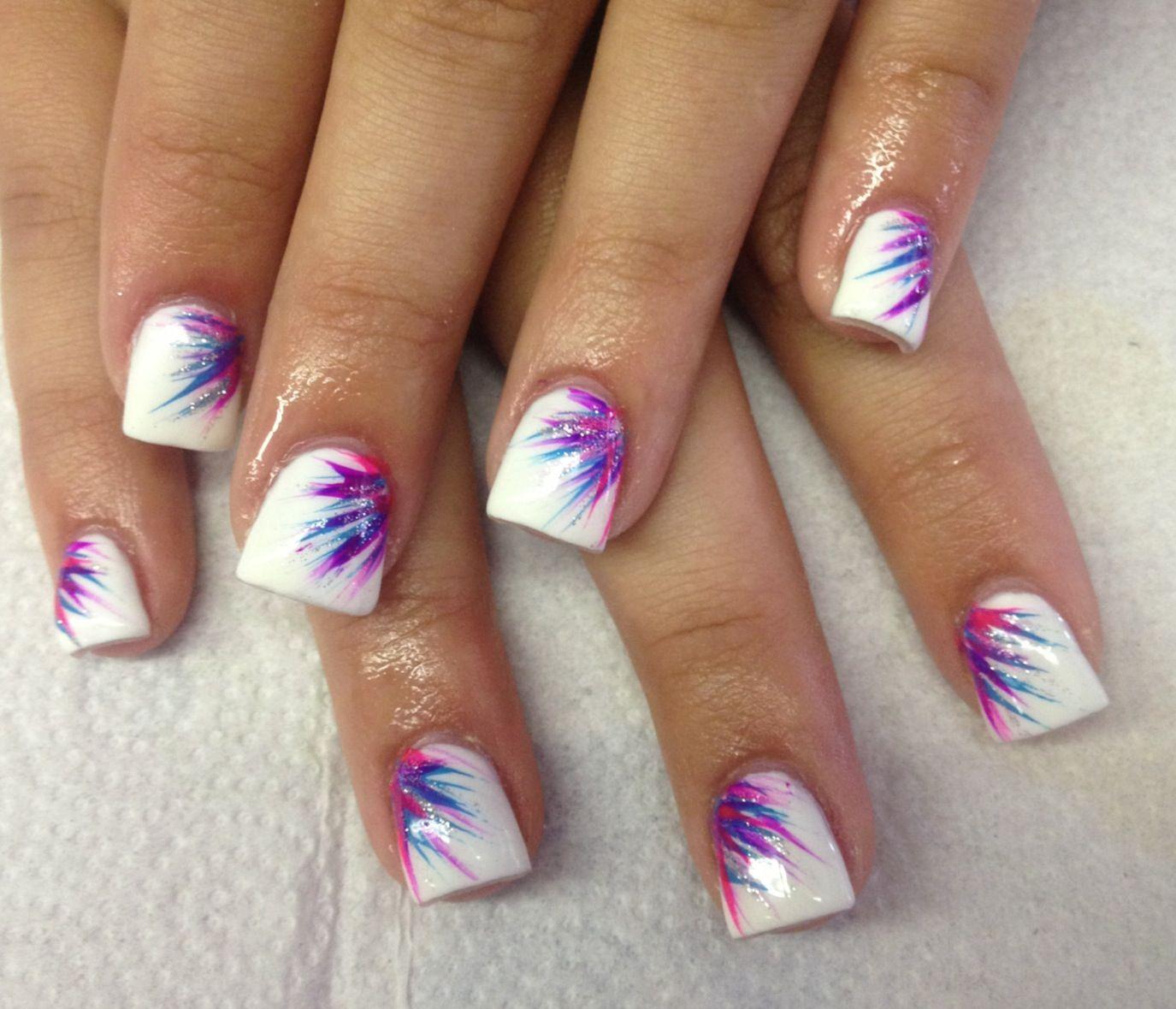 Fun flared starburst nails | Nail Designs | Pinterest | Fun nails ...