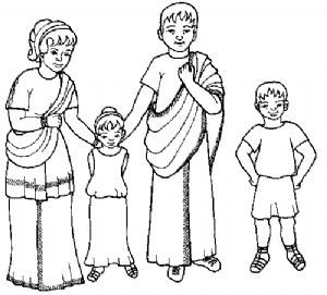 A Roman Family Colouring Sheet Family Coloring Pages Family Coloring Roman History