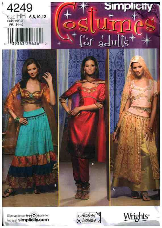 Simplicity Sewing Pattern 4249 | Belly dancer costumes, Belly ...