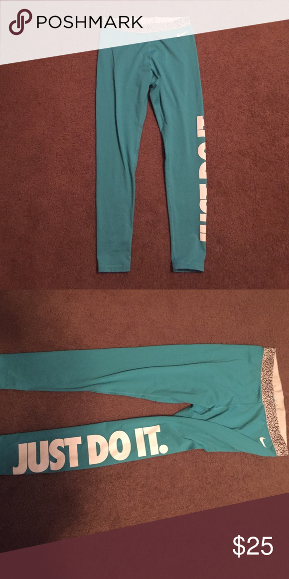 Turquoise nike workout pants! workout pants size large!!!!! Nike Other