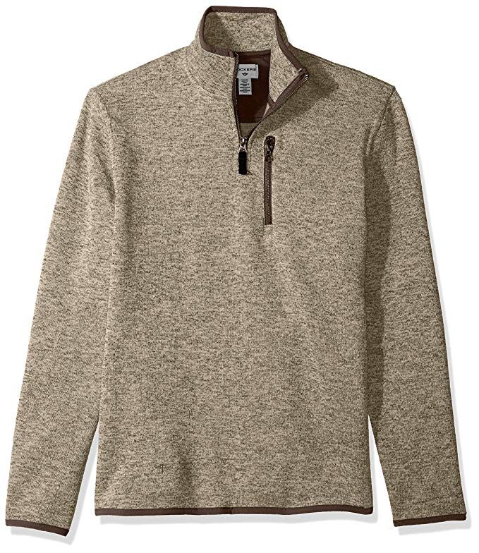Dockers Men's Long Sleeve Quarter Zip Sweater Review