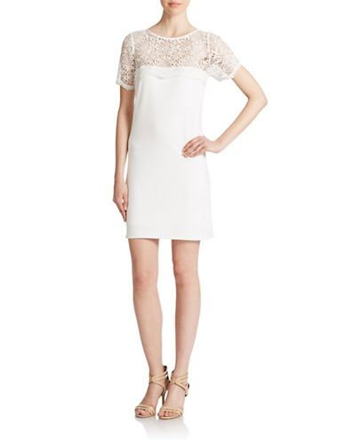 White Lace Sheath Dress Lord And Taylor Dresses For Vow Renewal