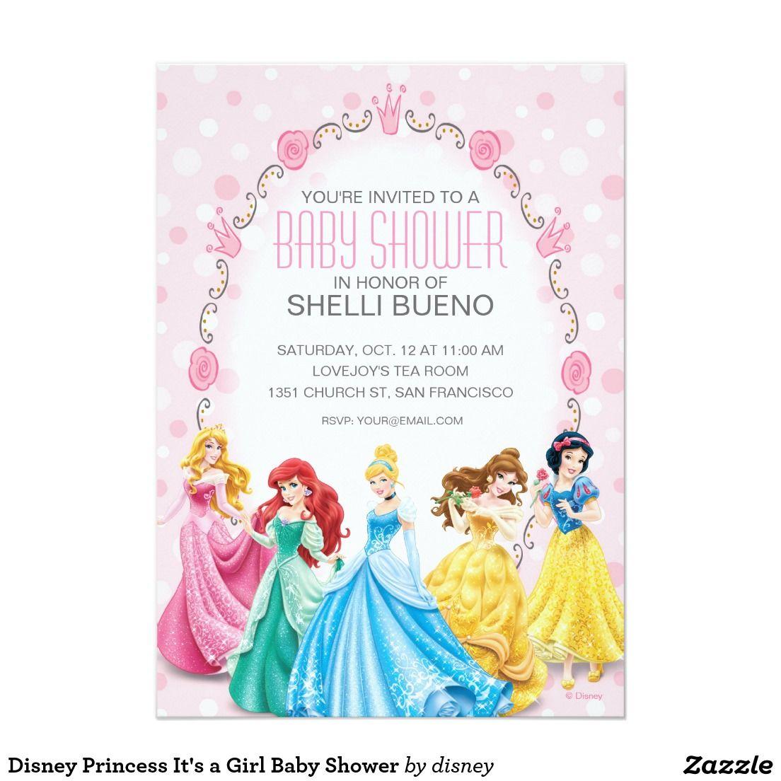 Disney Princess It\'s a Girl Baby Shower 5\