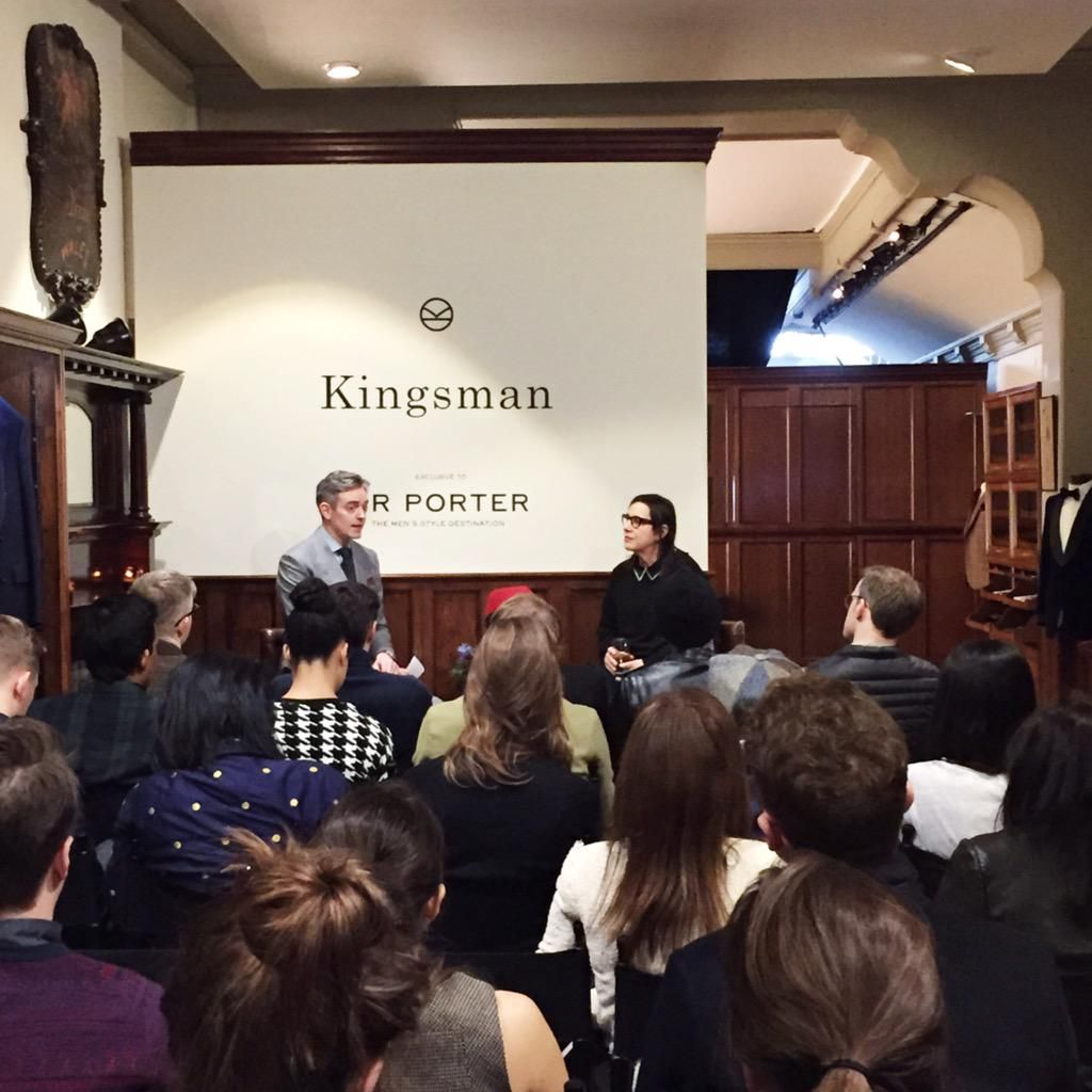 """""""Usually the costumes are stored once the movie is filmed. This time, the work the designers do is still living."""" @ariannephillips @KingsmanMovie #KingsmanCollection"""