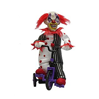 totally ghoul animated clown on tricycle halloween decoration kmart - Kmart Halloween Decorations