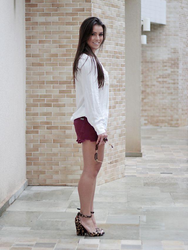 Look do dia: short + camisa off white