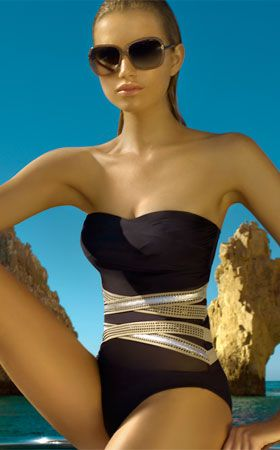 8bce6784994d4 2730 One Piece Swimsuit by Zeki Swimwear at Pesca Trend ** 2012  Collection**. Strapless one piece swimsuit this sophisticated suit has  sheer torso and ...