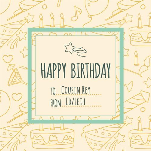 Sketchy Birthday Wishes Postal Card With Your Name Birthday Card Online Birthday Wishes With Name Happy Birthday Sunflower