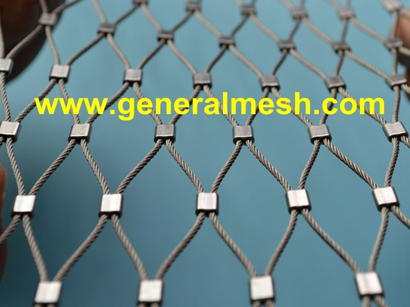 Generalmesh Stainless Steel Cable Mesh As Railing Infill Material Stainless Steel 316 No Rust High Tensile 10 Vinyl Mini Blinds Stainless Steel Cable Mesh