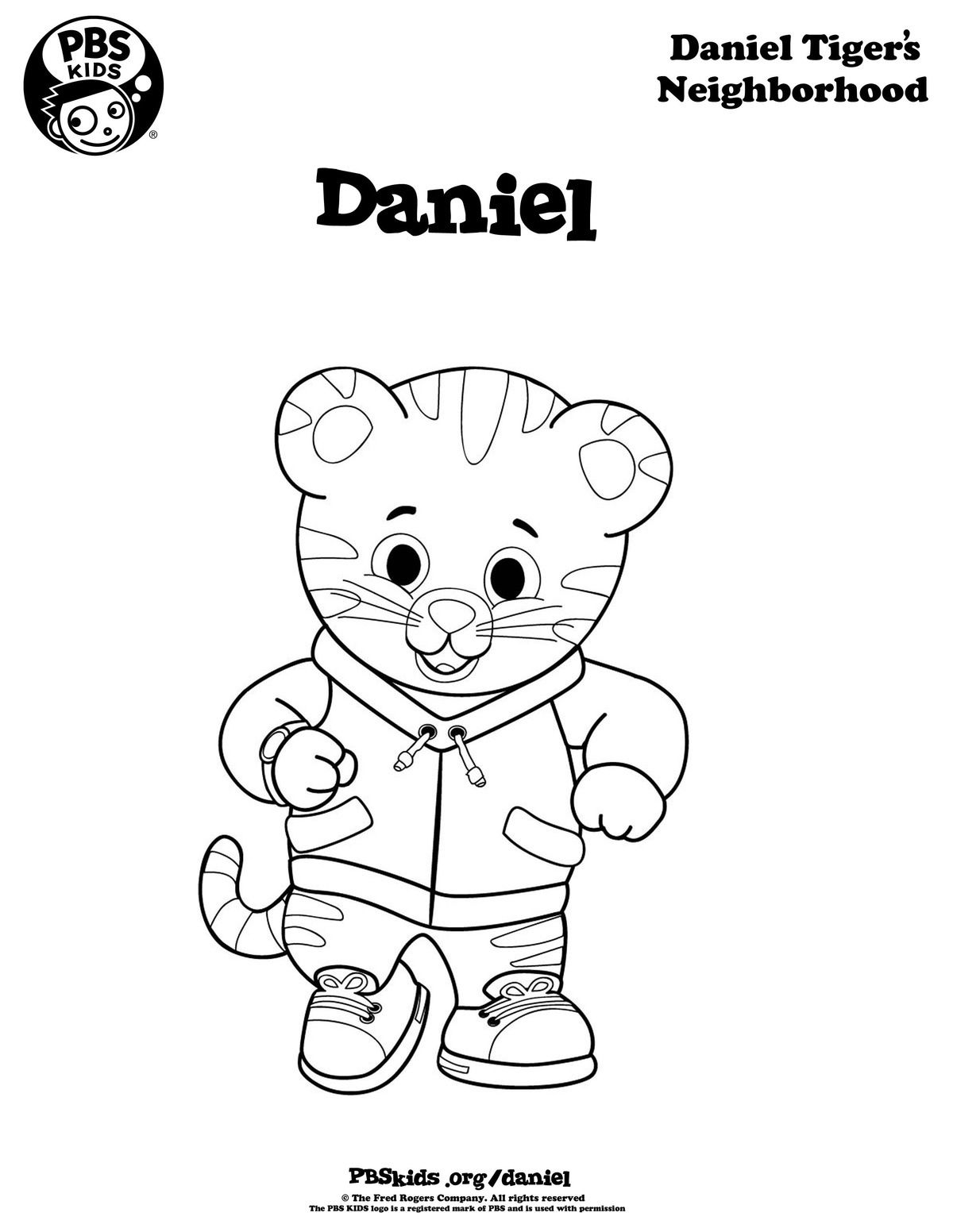 Daniel Tiger coloring page. Coloring pages are a great