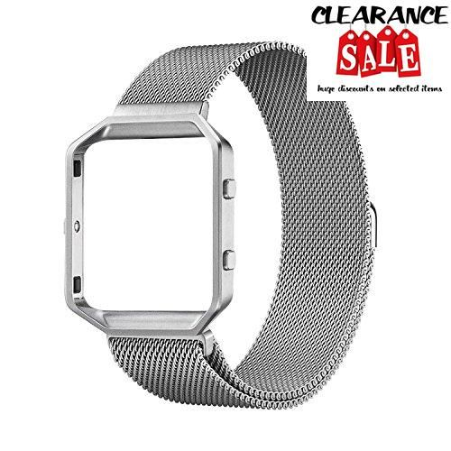 Fitbit Blaze Band, #No1seller Milanese Loop Stainless Steel Band Bracelet Strap Wristband+Frame for Fitbit Blaze Smart Fitness Watch with Unique Magnet Lock (6.7...