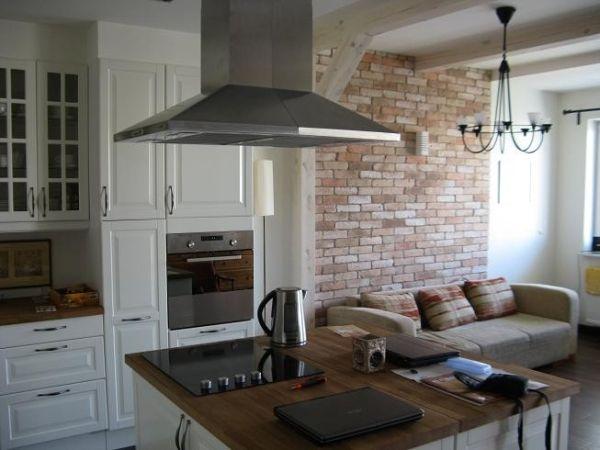 Jaka Cegla Do Szarej Kuchni Szukaj W Google Brick Kitchen Kitchen New Homes