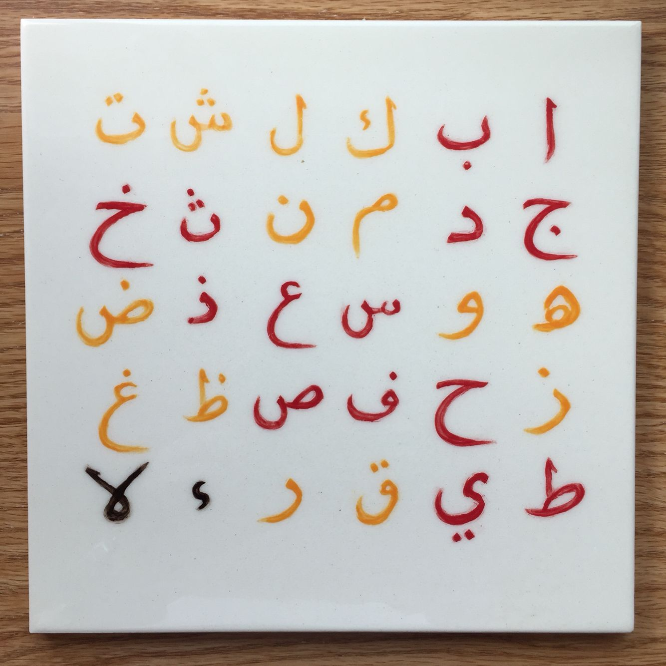 arabic alphabet ceramic glazed tile arabic arabic alphabet ceramic glazed tile doublecrazyfo Gallery