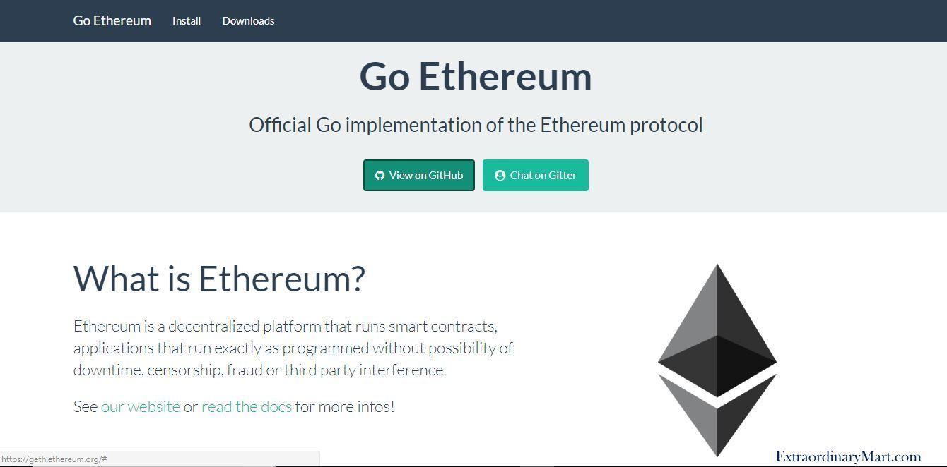 Blockchain Deo by Go Ethereum | ExtraordinaryMart | Blockchain
