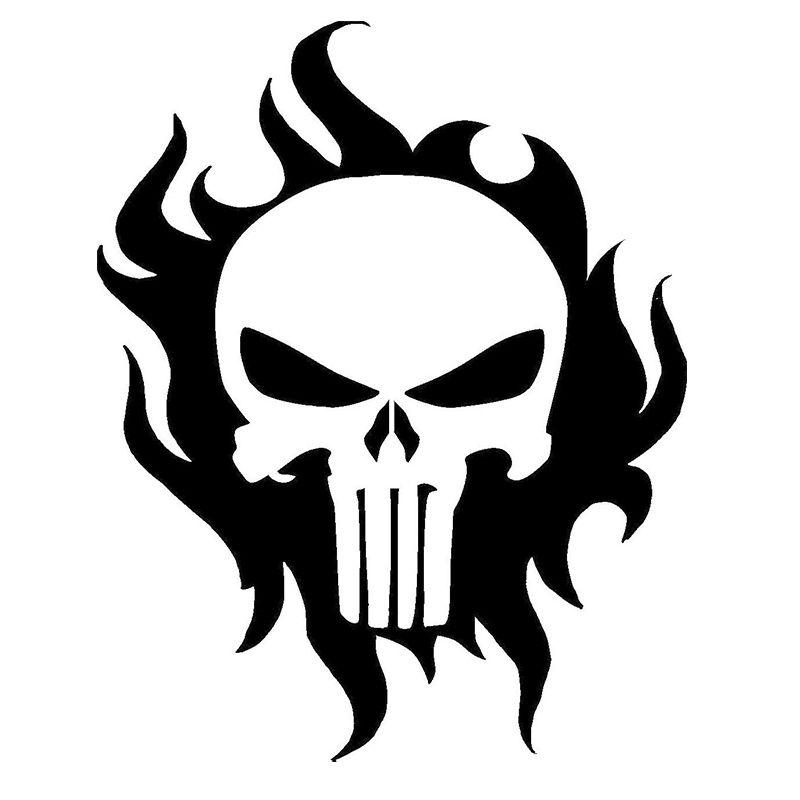 8X PUNISHER AMERICAN FLAG SKULL DIE CUT VINYL DECAL STICKER JDM USA DEATH