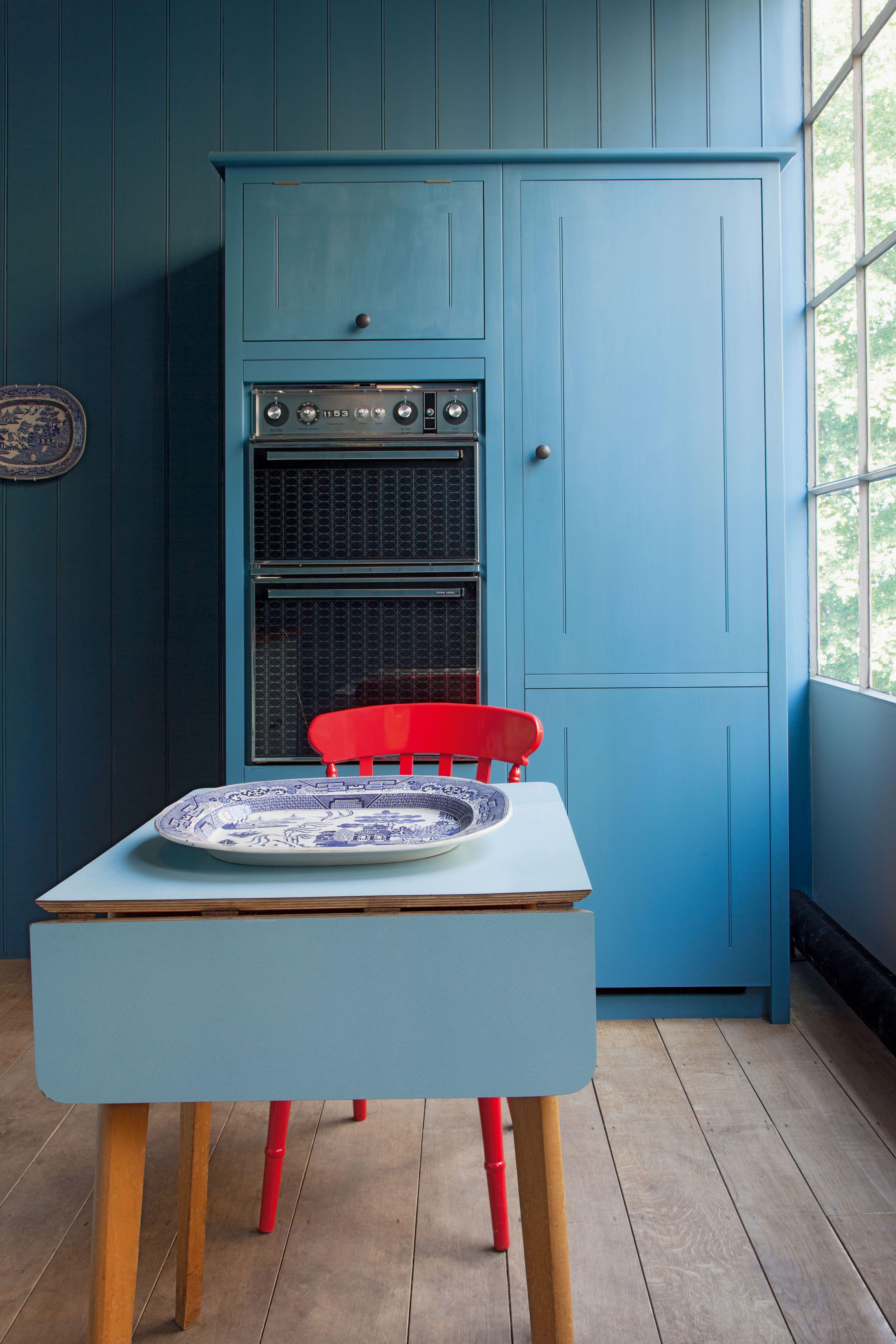 Beste Blau Küchenwände Mit Eichenschränke Ideen - Ideen Für Die ...