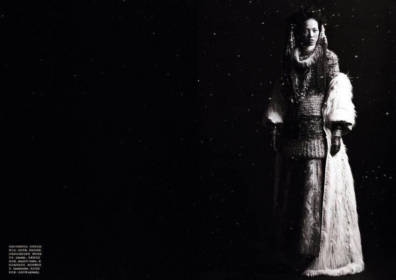 Grace Gao by Mei Yuan Gui for Numéro China November 2010