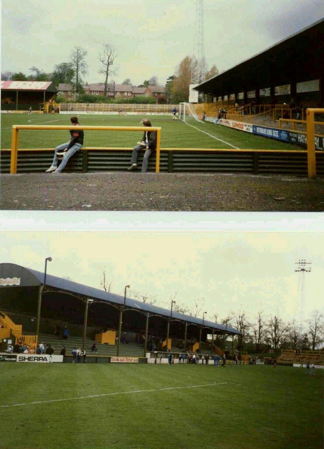 Feethams darlington in the 1980s stadium pics