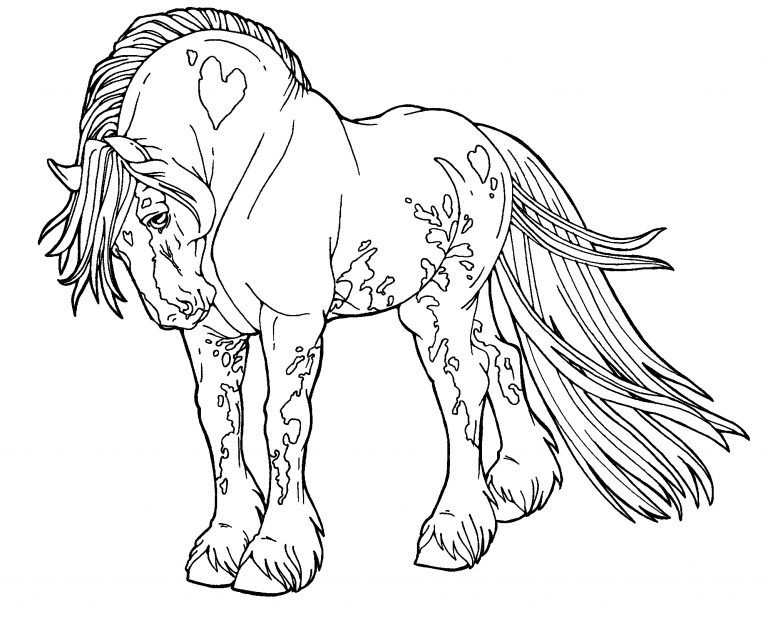 42++ Printable horse head coloring pages information