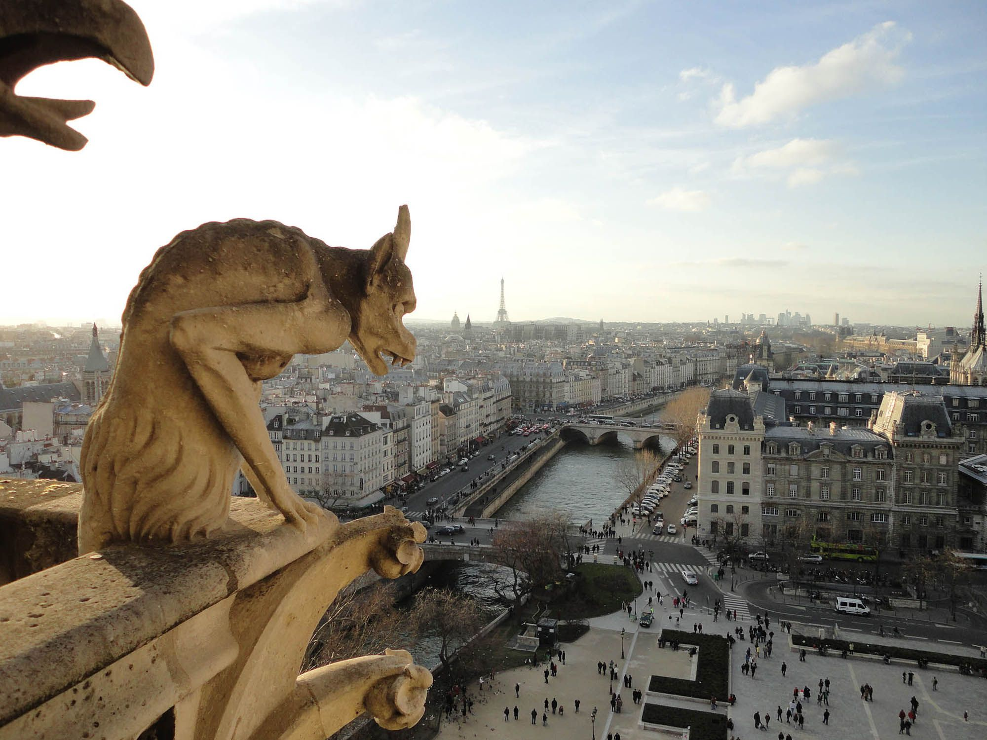 I think often of Paris architecture, especially the gargoyles following your every step.
