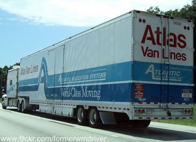 Atlas Van Lines With Images Van Lines Kenworth Trucks Moving