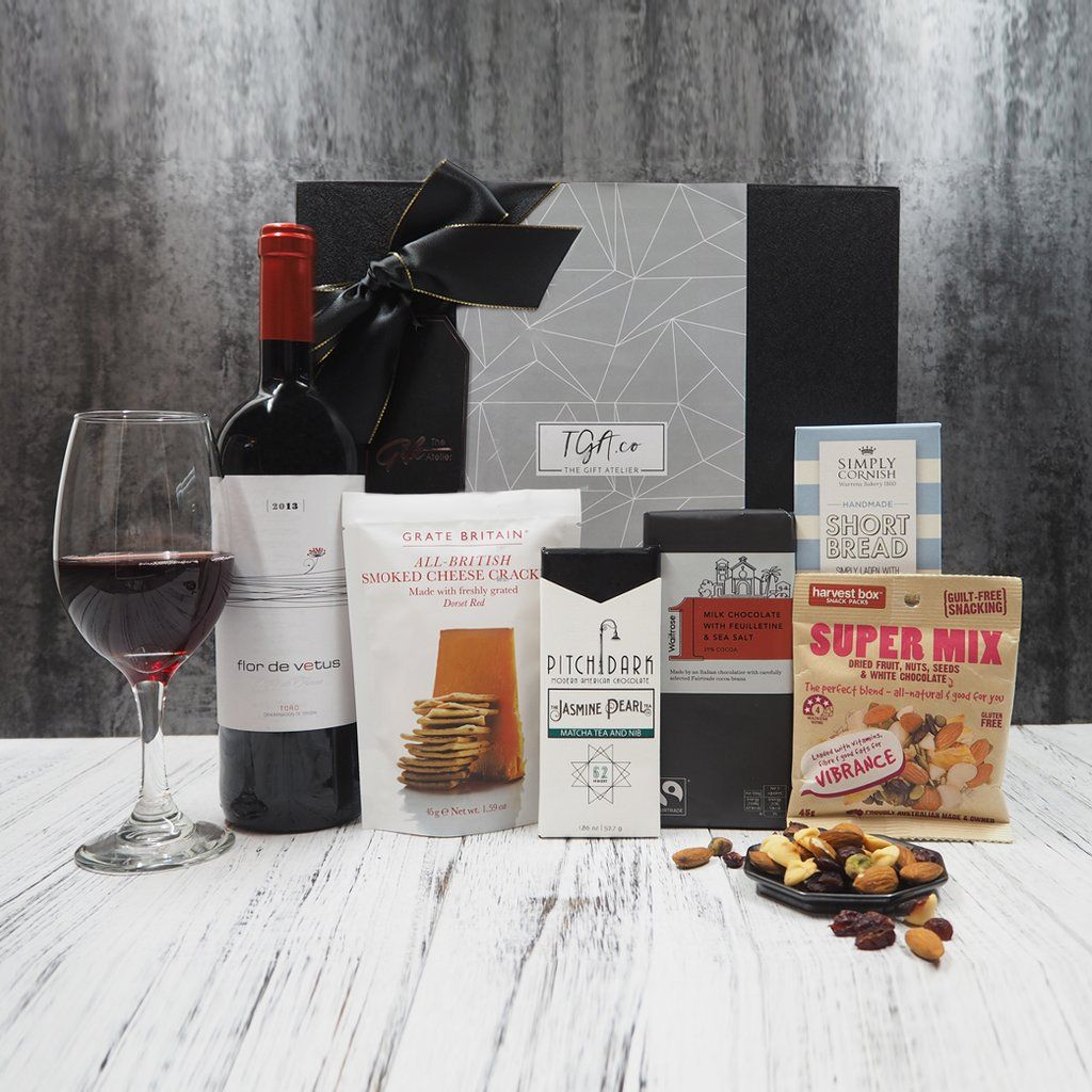 Wine and Nibbles Hampers from The Gift Atelier Singapore
