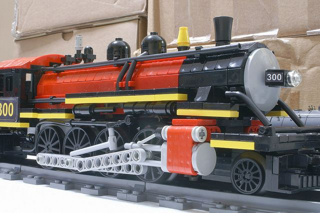 /by SavaTheAggie #flickr #LEGO #steam #engine
