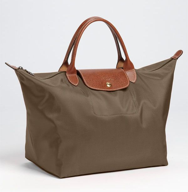 Longchamp  Medium Le Pliage  Tote Color  Slate THB3800   Siam Paragon (Top  Handle bag Taupe) 7b27a9aef21d5