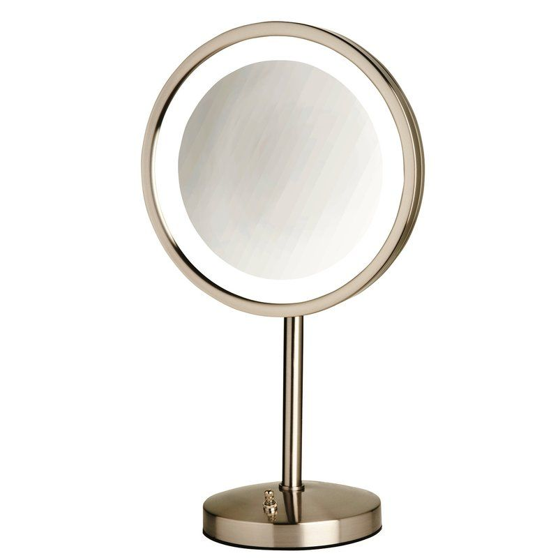 9 5 Led Lighted Table Top Mirror Lighted Vanity Mirror Mirror Wall Mounted Mirror