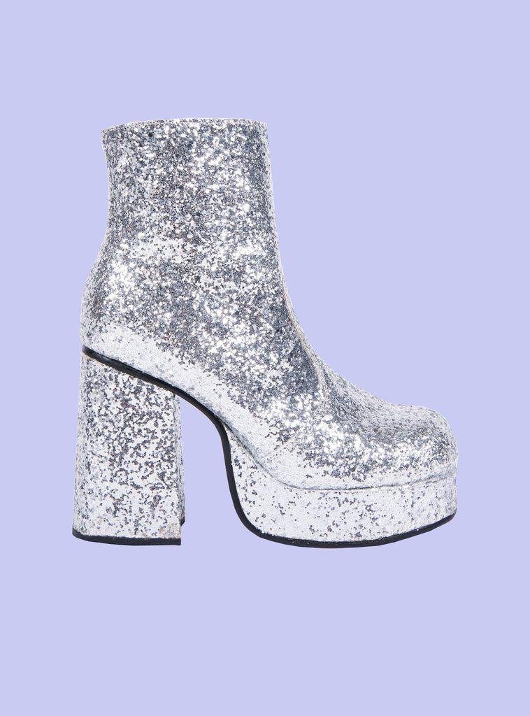 Stax Platform | Funky shoes, Glitter