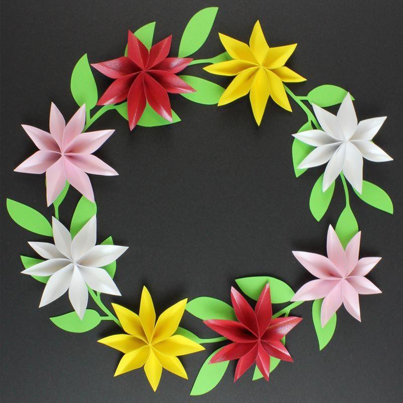 Papierblumen Basteln Für Tischdekoration Plotterfreebie