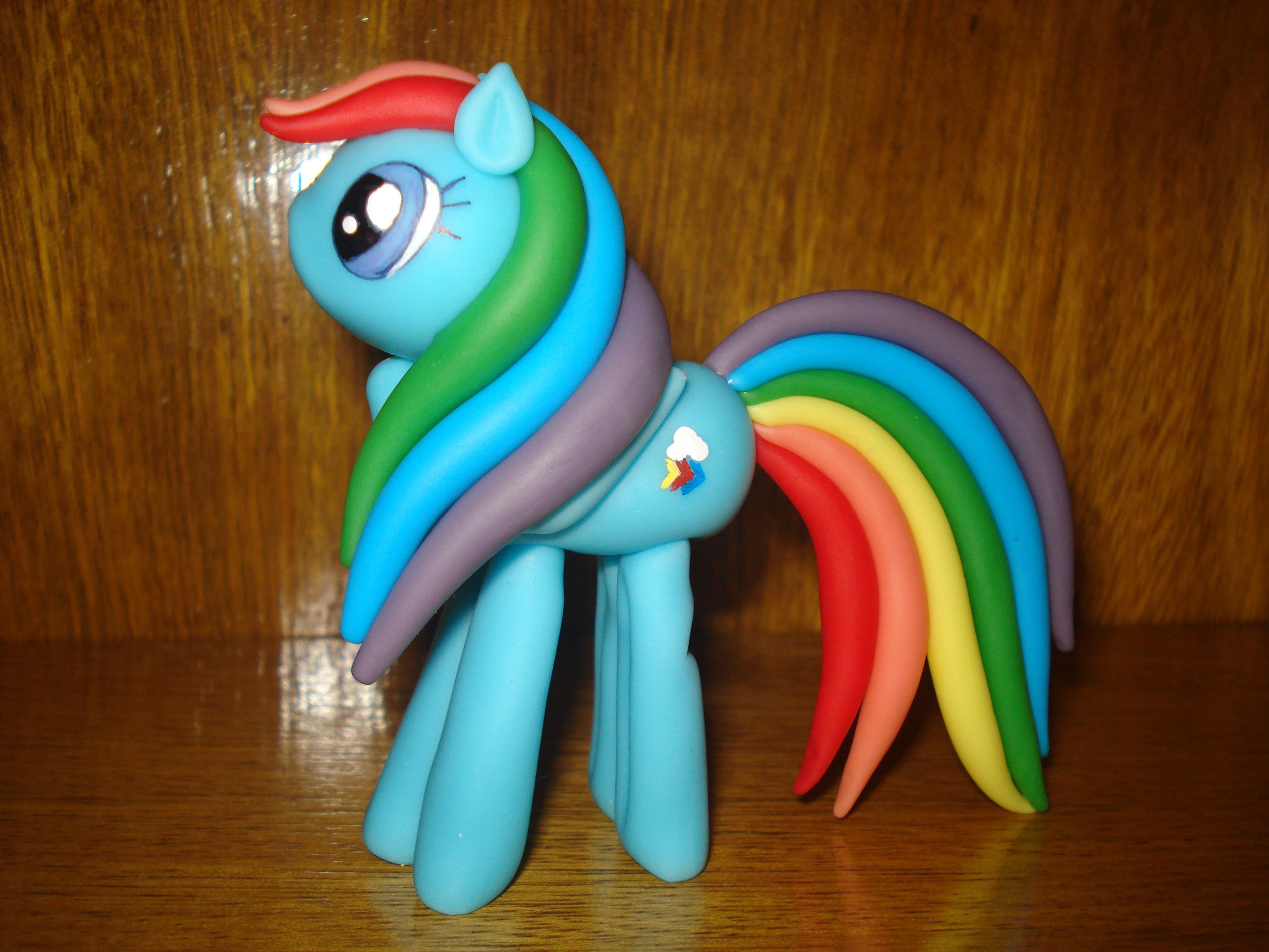 Rainbow Dash, My Little Pony Porcelana fría, Porcelana, Frio