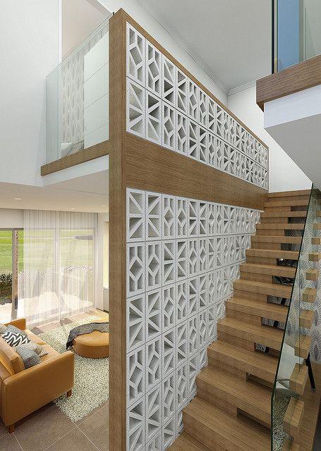 Breeze Blocks Porcelain Breeze Block Wall Elegant Homes Exterior Stairs