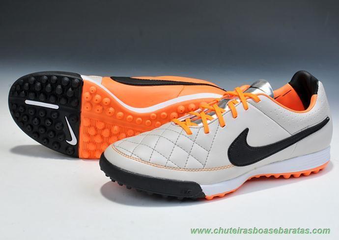buy online 51fb3 413b5 loja tenis Nike Tiempo Legend Elite Cinza Laranja Preto TF Masculino
