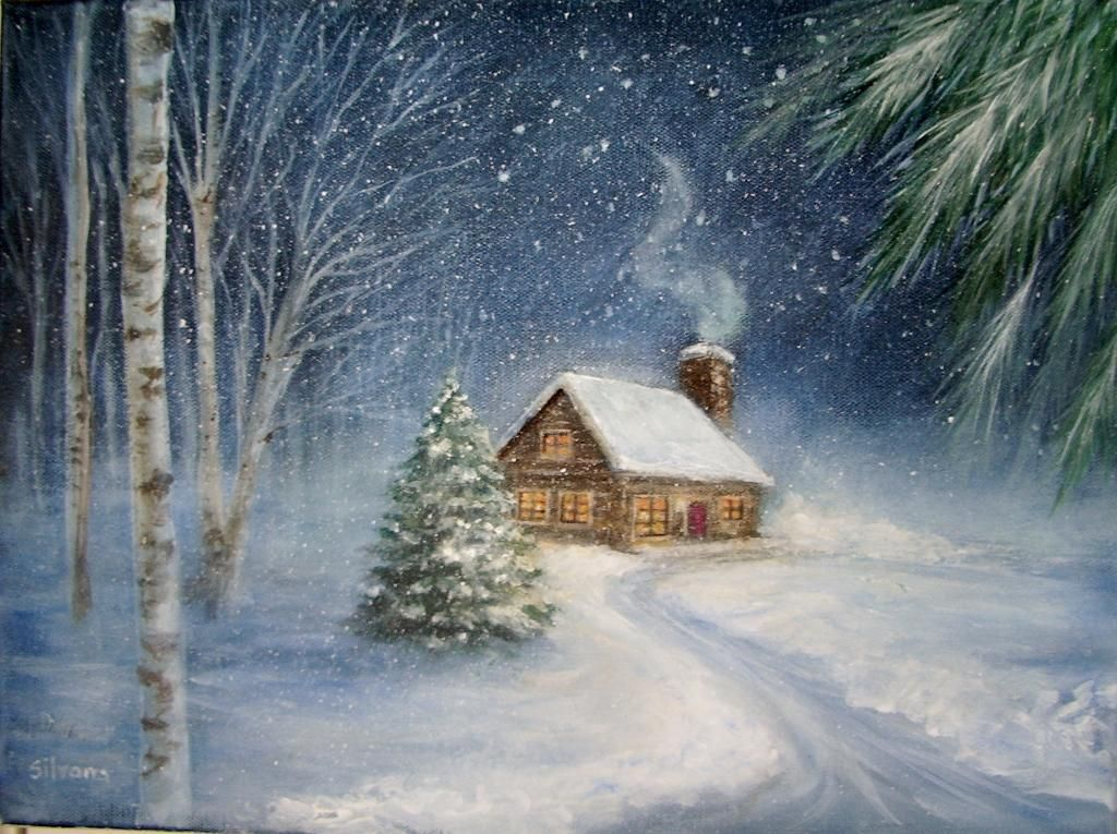 Let It Snow 8 Classic Winter Painting Ideas