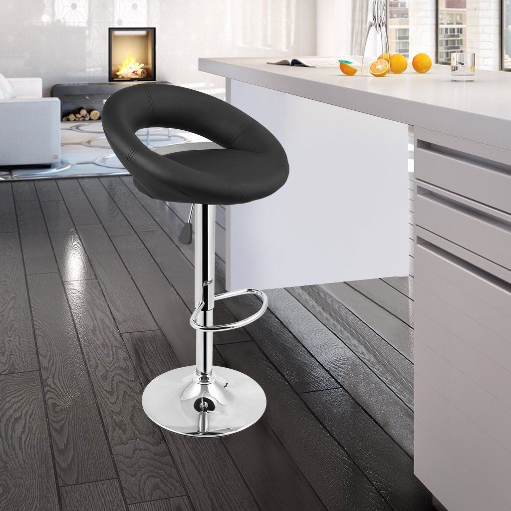 amazon langria tall pu leather bar stool with arched