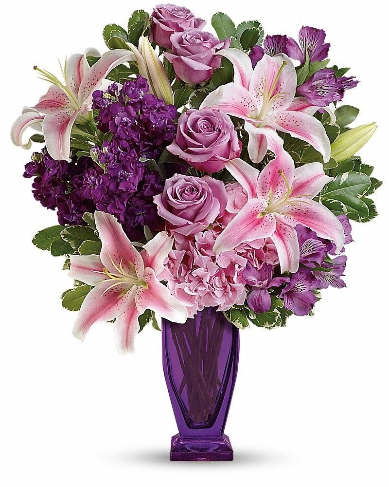 Blushing Violet Bouquet | Calgary Same day flowers free delivery ...
