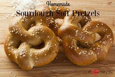This sourdough soft pretzel recipe is one you will make again and again. Slightly sour and perfectly chewy, it is hard to eat just one of these yummy pretzels.