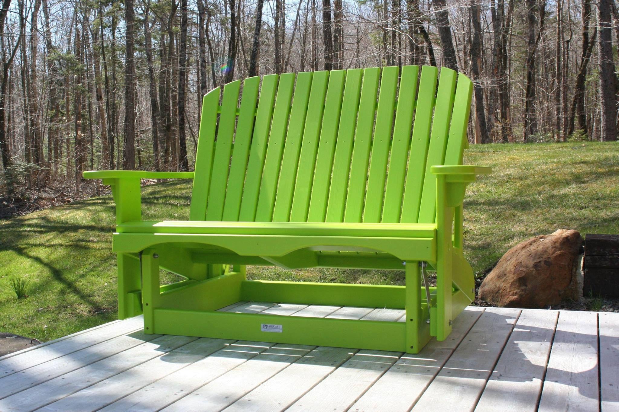 Margarita love seat glider Adirondack furniture