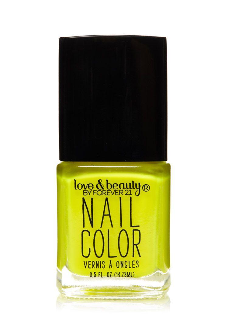 Neon Yellow Nail Polish Neon Yellow Nails Nail Polish