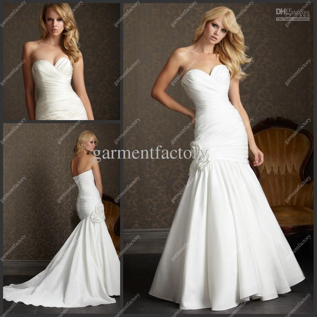 Wholesale Sexy Wedding Dress Images Sweetheart Neckline Mermaid ...