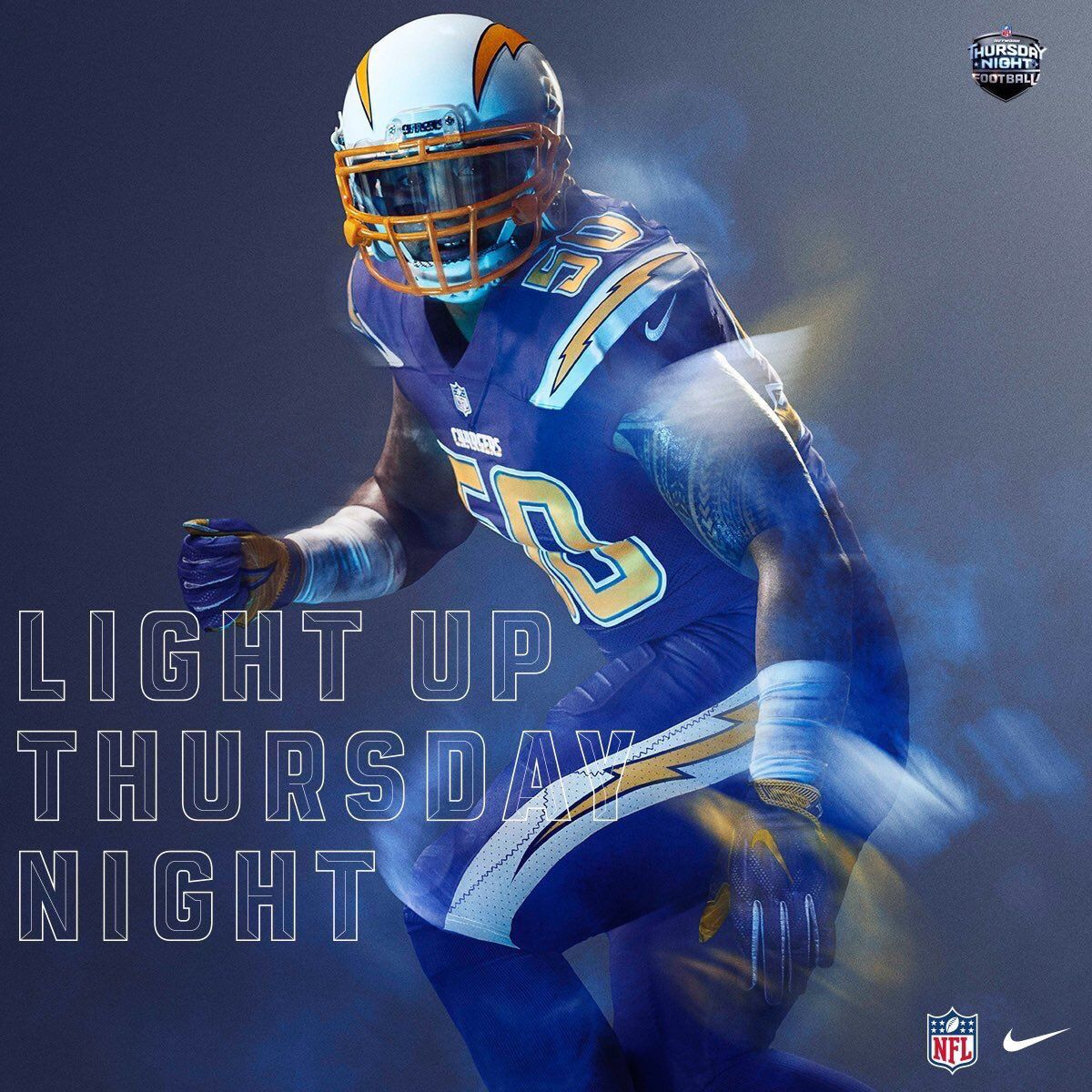 fb3a1a357 Power Ranking all 32 NFL Color Rush Uniforms 7. San Diego Chargers ...