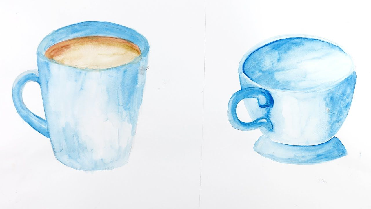 Watercolor Painting How To Make Watercolor Mug Cup Painting