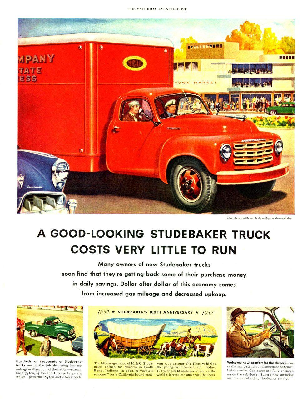 Manuels vintage zimmer  studebaker truck ad  studebaker trucks  pinterest  truck