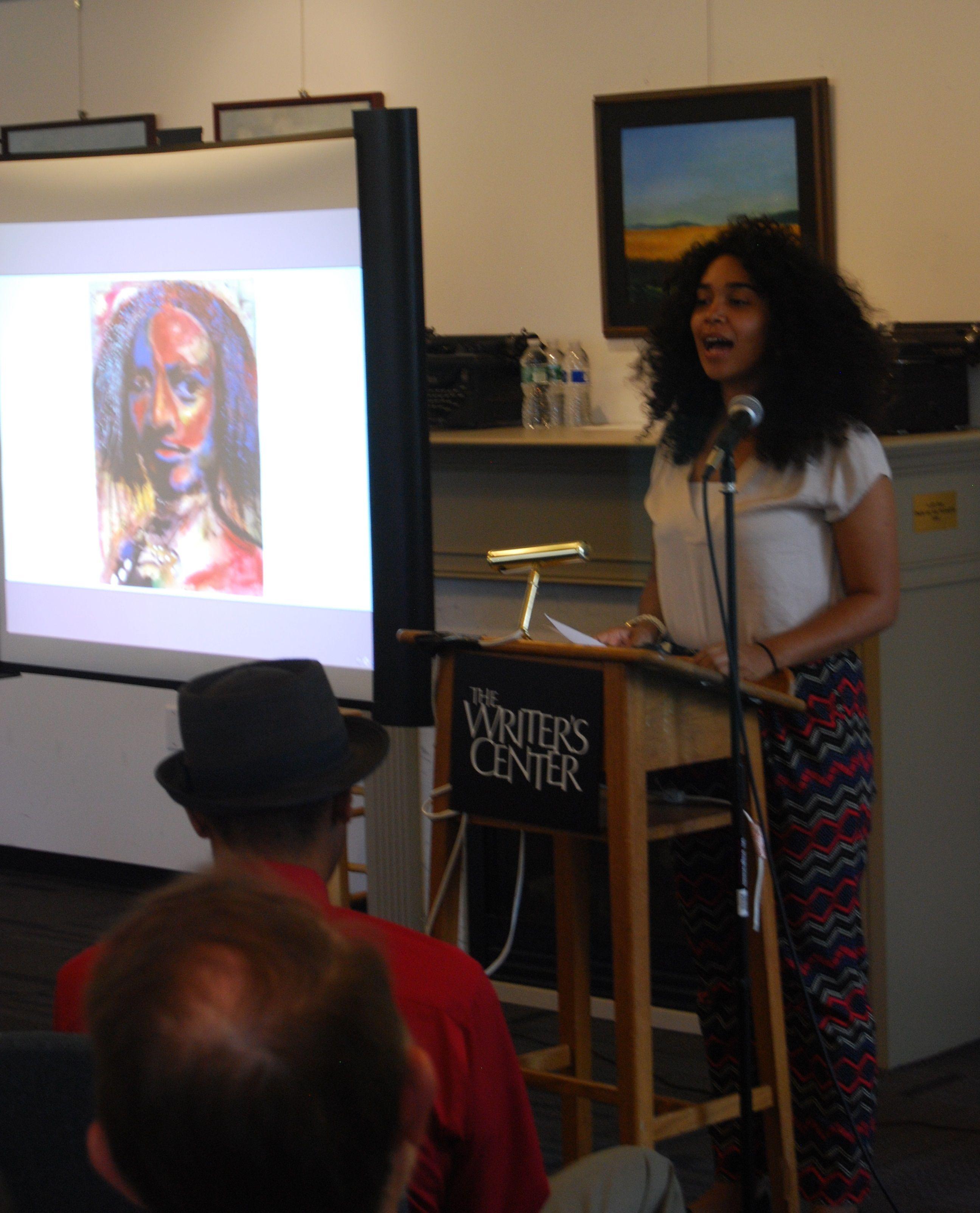 D.C. #poet Elizabeth Acevedo reads at #PoetLore 126th birthday event.