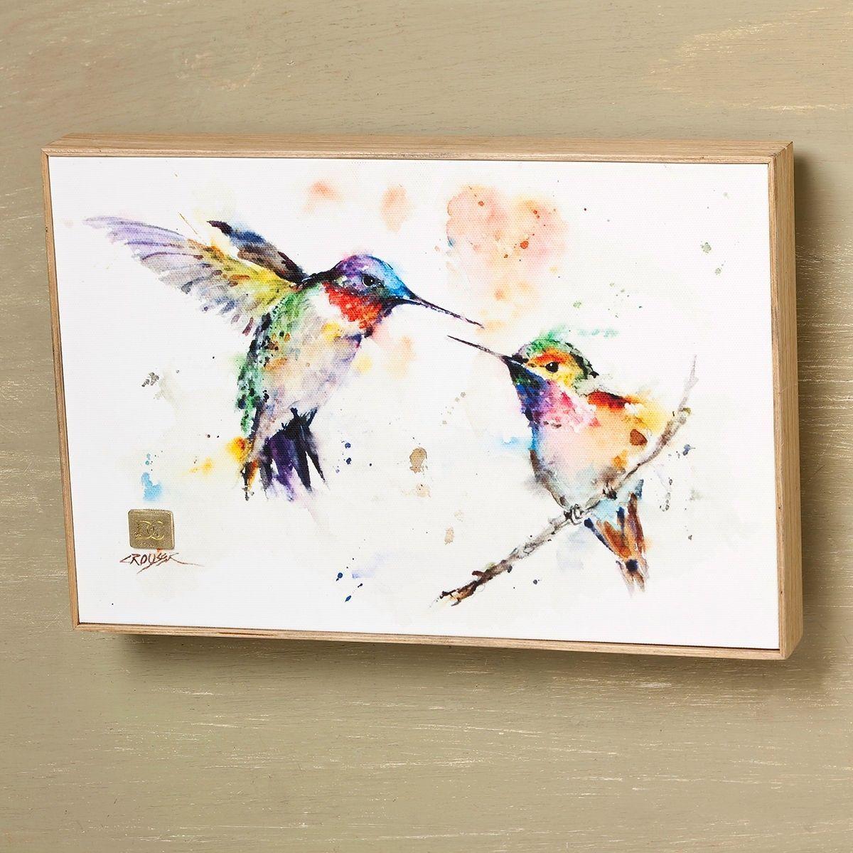 DEAN CROUSER Watercolor Print Framed Canvas Art Hummingbird B5050130 ...